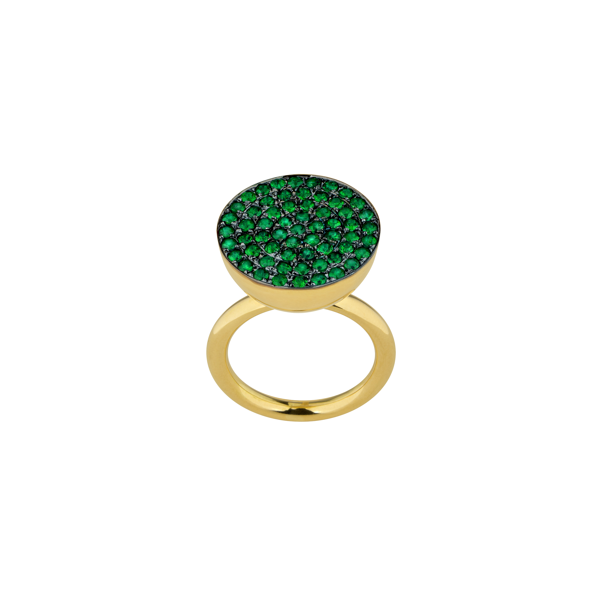 yellow cut emerald engagement foundry set gold ring low marie products in diamond altana bezel profile